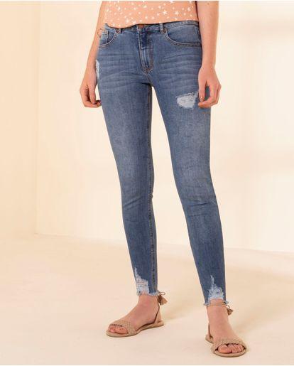 Azules Pantalones Y Jeans de mujer color amarillo ¡Compara