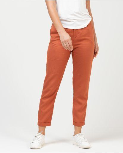 Ropa Mujer Pantalones 364 Naranja 8 Nafnaf